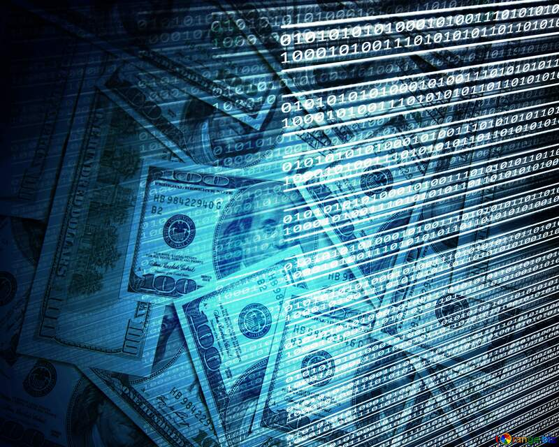 Digital money background №49673
