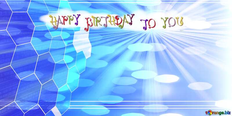 Happy birthday tech card №49674