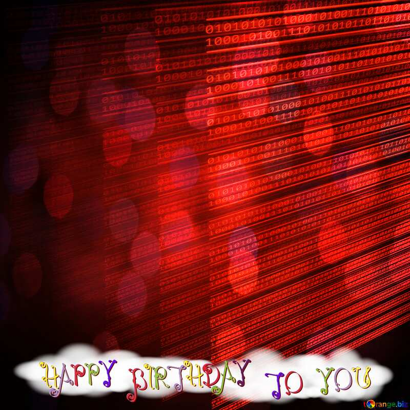 red Happy birthday card for programmer  №49673
