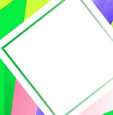 Colorful illustration template tilted frame