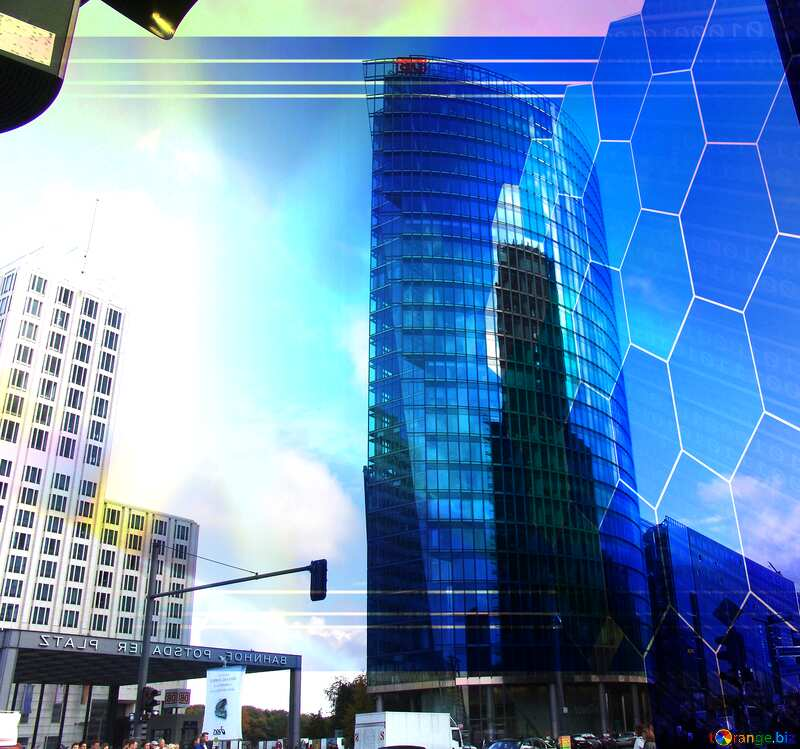 Berlin skyscrapers Tech business information concept image for presentation №11971