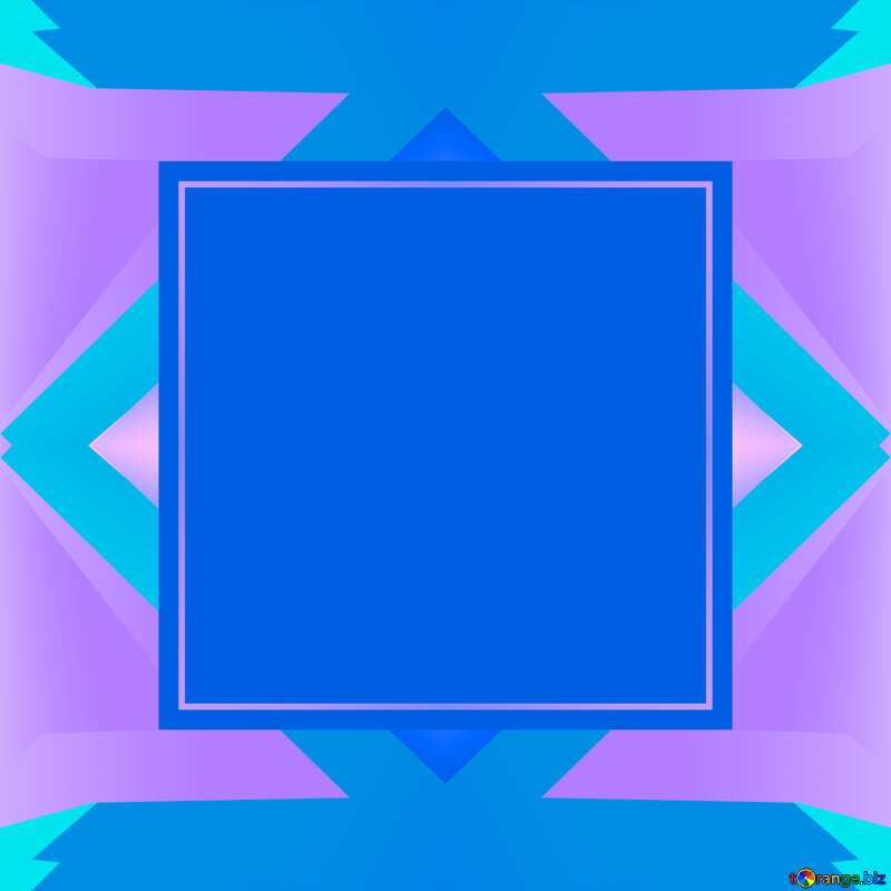 Blue blank  illustration template frame     №49675