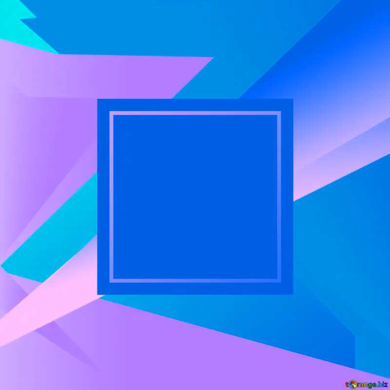 Blue blank illustration template geometric frame №49675