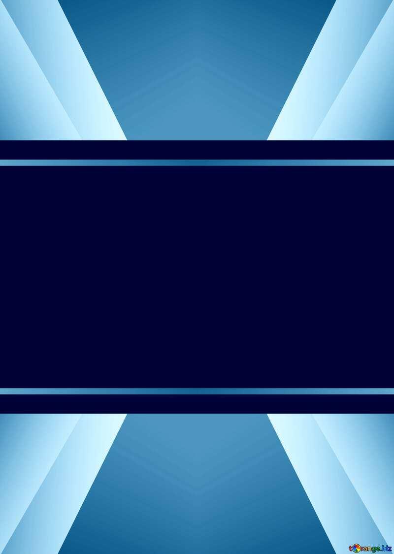 Blue toned illustration template frame     №49675