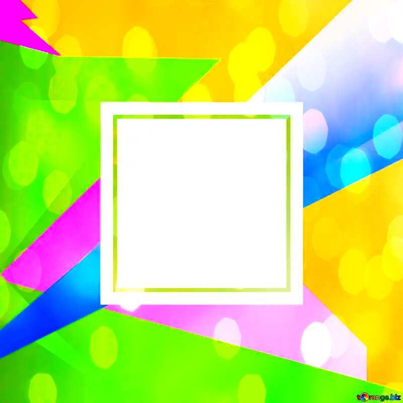 Colorful illustration template frame overlay bokeh background №49675