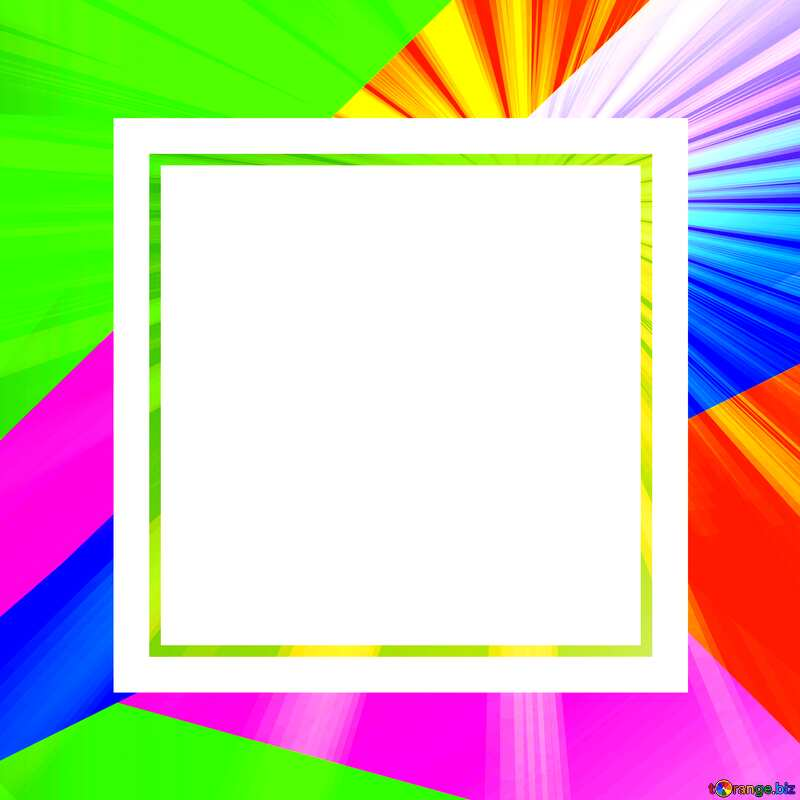 Colorful illustration template frame with Rays of sunlight №49675