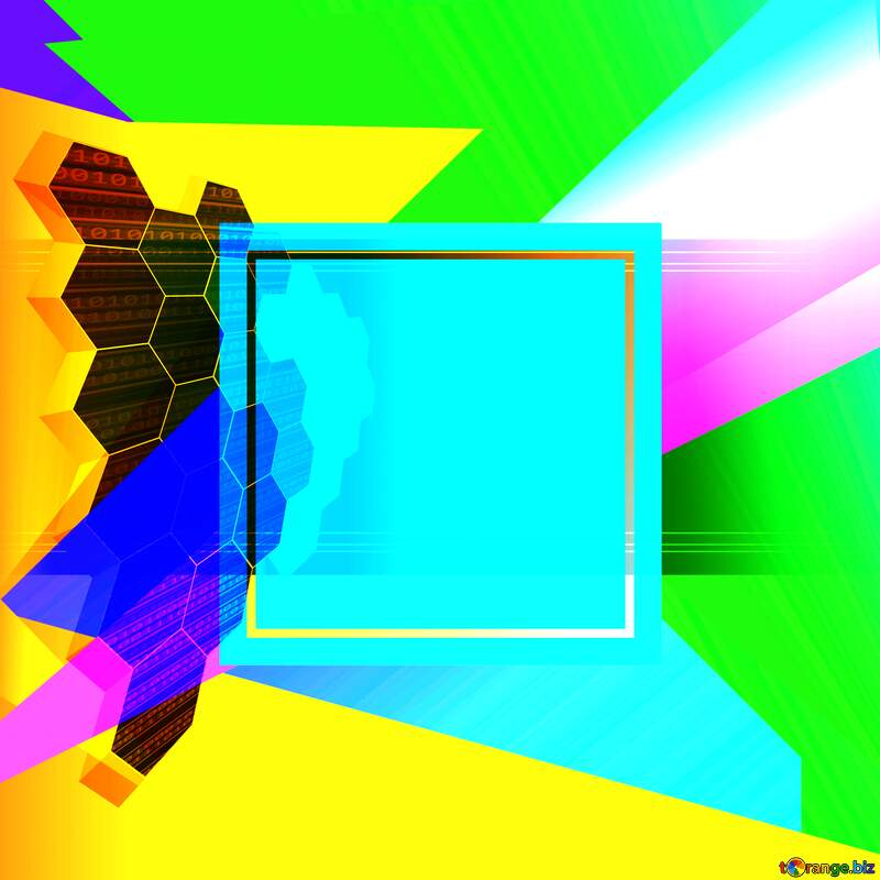 it business information technology concept background Colorful blank illustration template geometric frame №49674