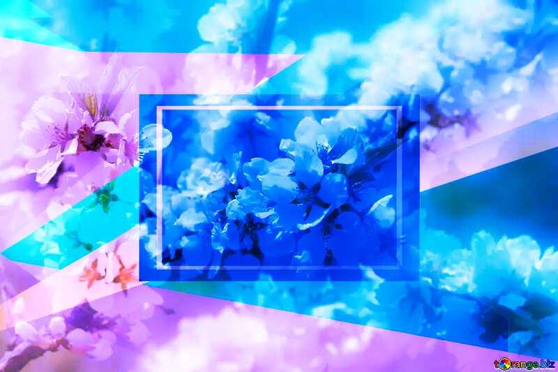 Spring pictures on wallpaper for desktop Blue blank illustration template geometric frame №39775
