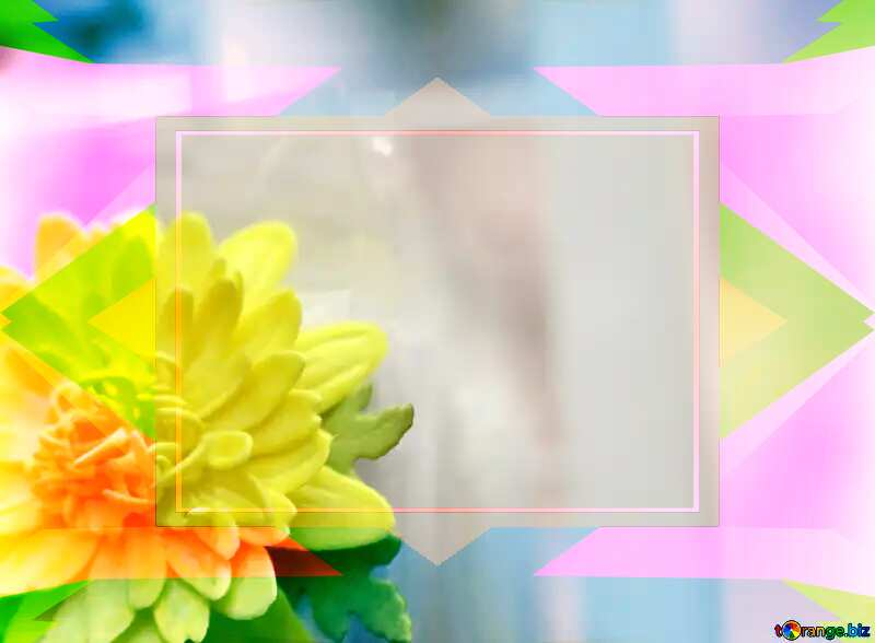 Yellow flower of foamirana Colorful geometric template frame №48635