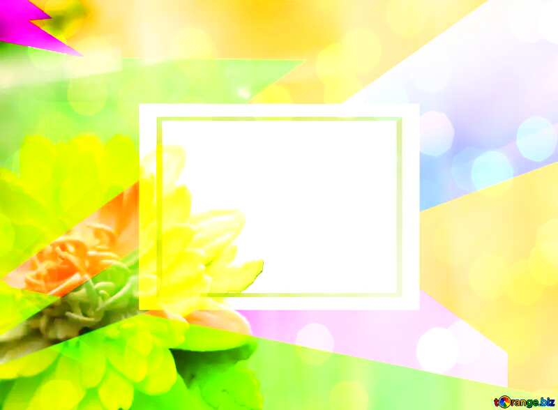 Yellow flower of foamirana Colorful illustration template frame overlay bokeh background №48635