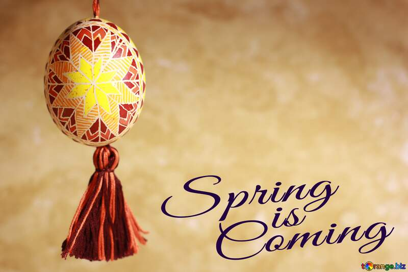 Easter greeting card Spring is coming №29360