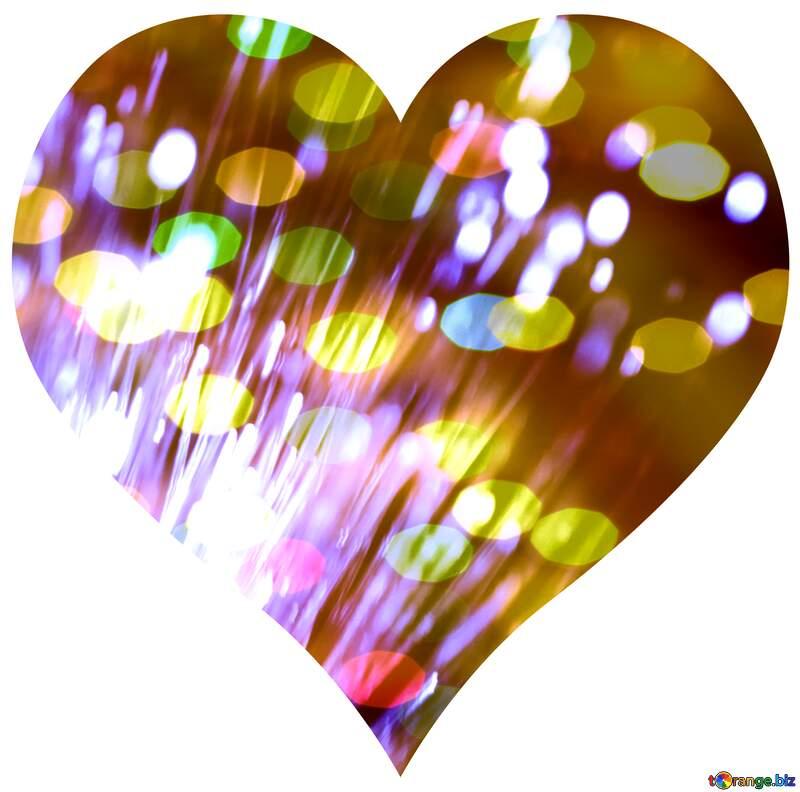 Optical fiber heart №41330