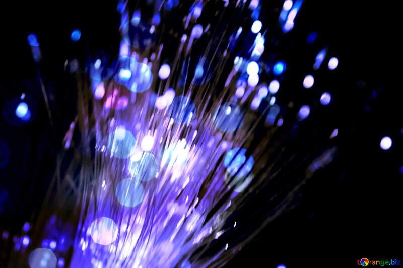 Optical fiber overlay bokeh background №41330