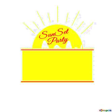 Sunset Party card