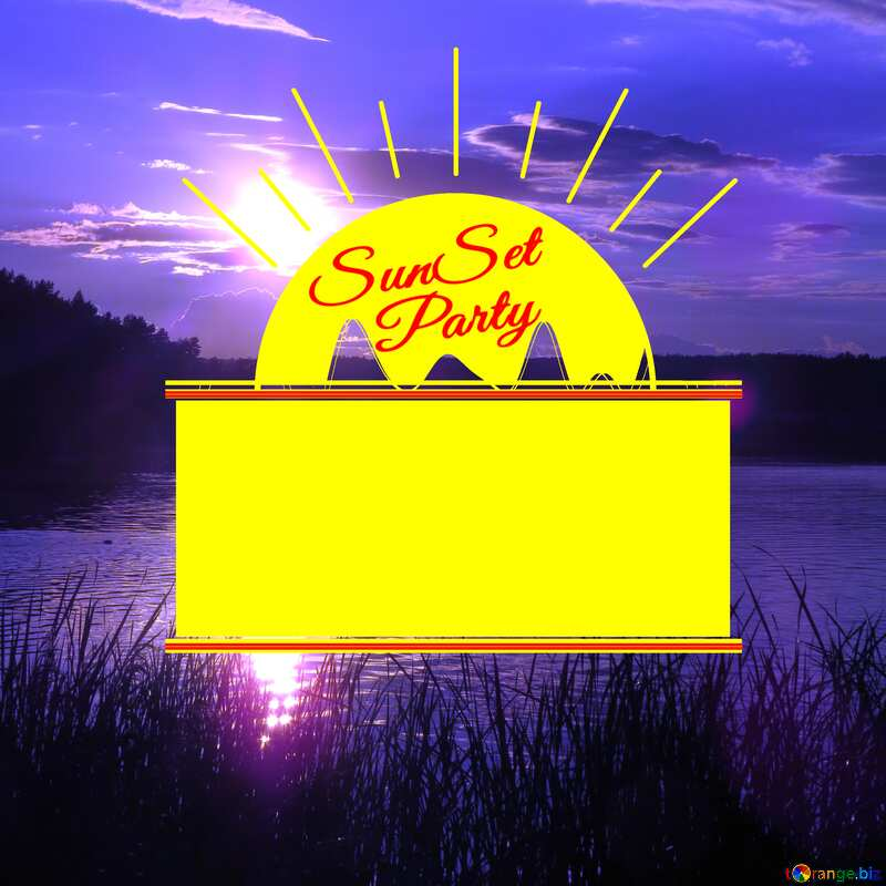 Blue Sunset Party card №36415