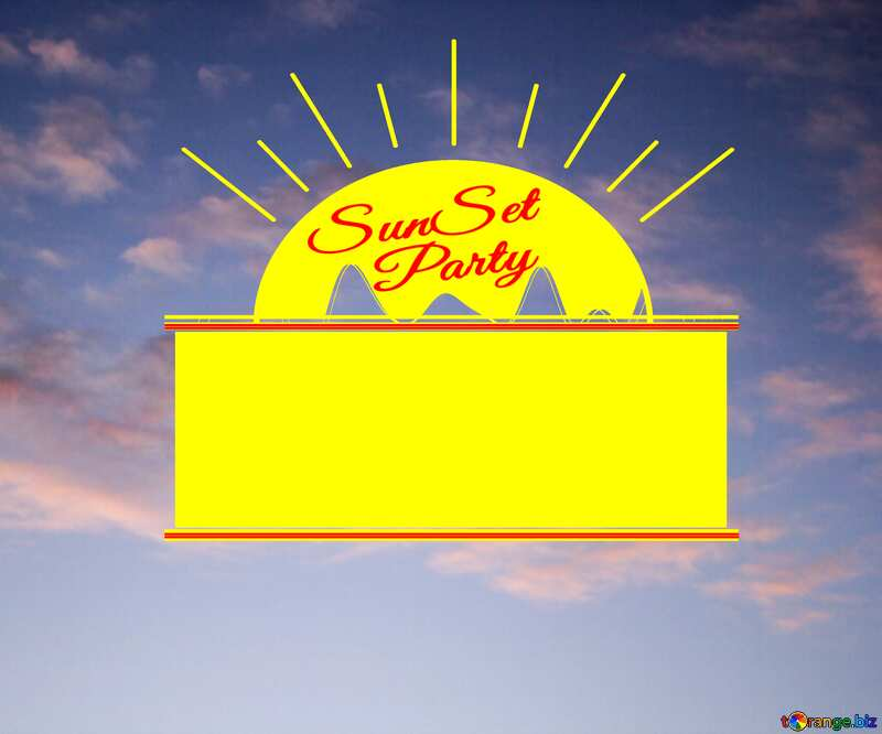 Clouds at Sunset Party card №16065