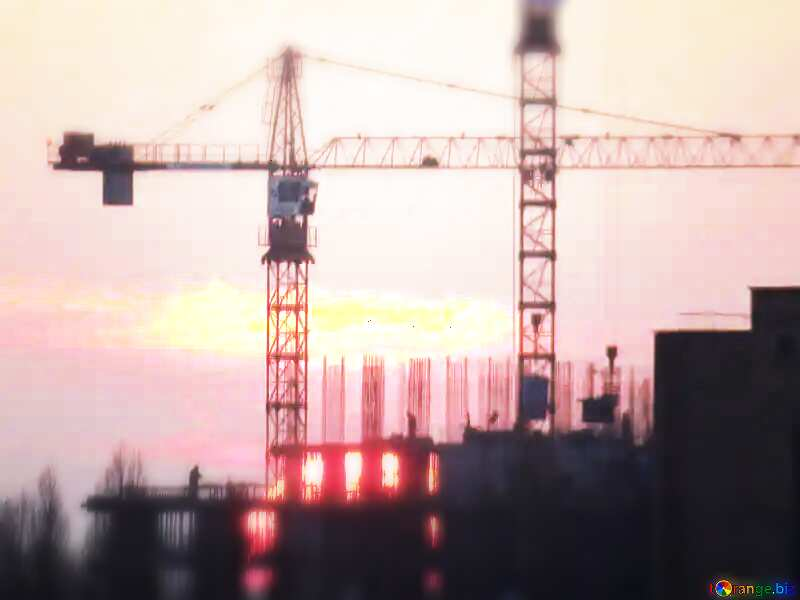 Construction of a multi-storey building background №30337