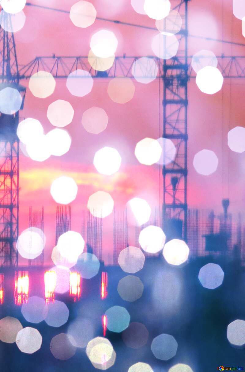 Construction of a multi-storey building bokeh background №30337