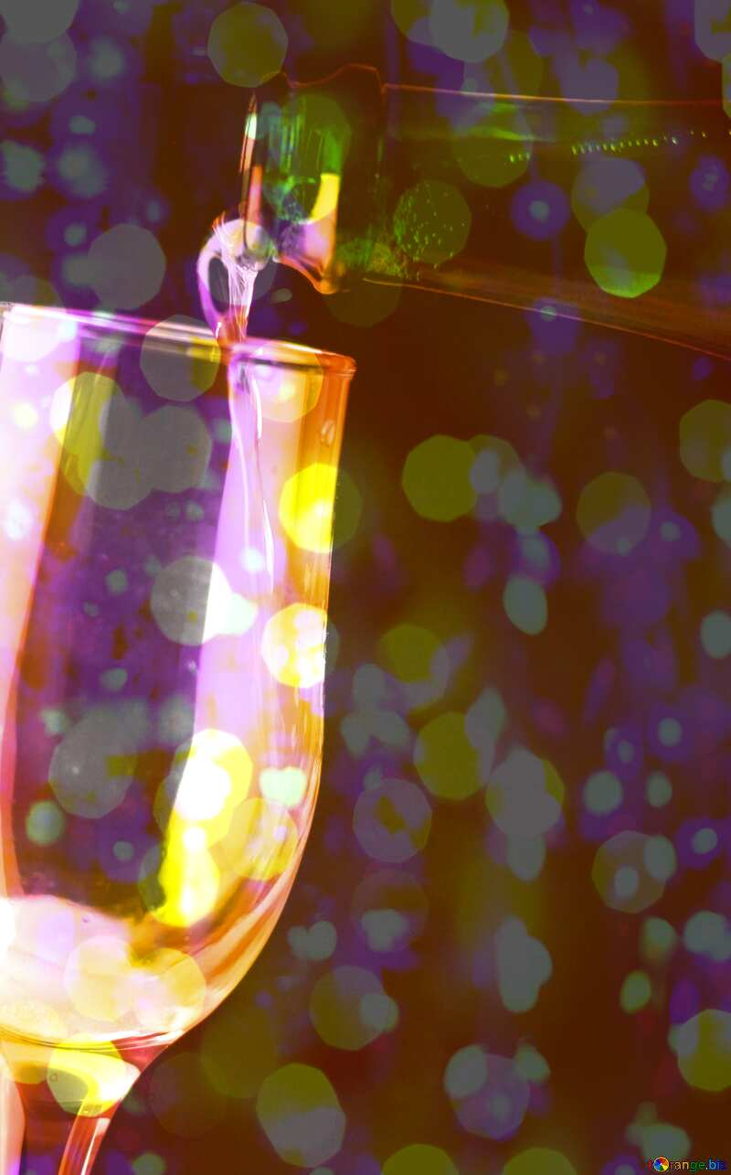 Foamy wine Colorful background №25778