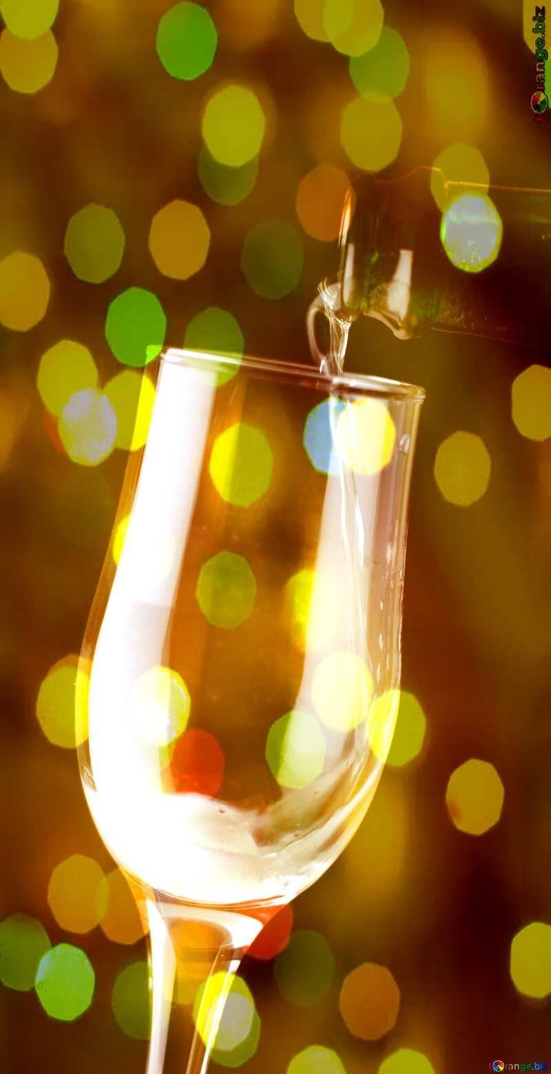 Foamy wine Wedding card background №25778