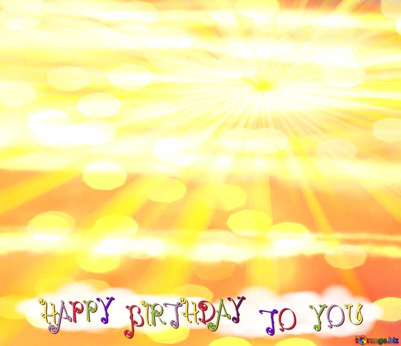 Greeting card Happy Birthday Background №31611