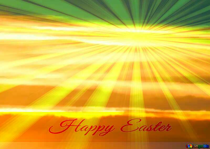 Greeting card Happy Easter Background №31611