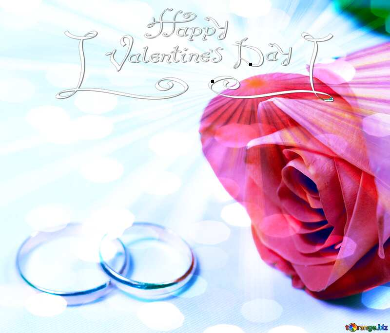 Happy Valentines Day Wedding  card   №7236