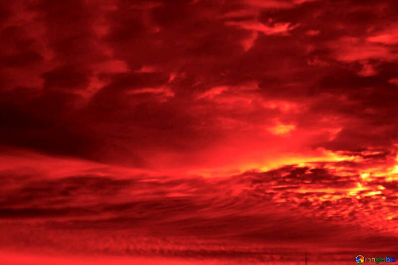 Red scary blood sunset №44627
