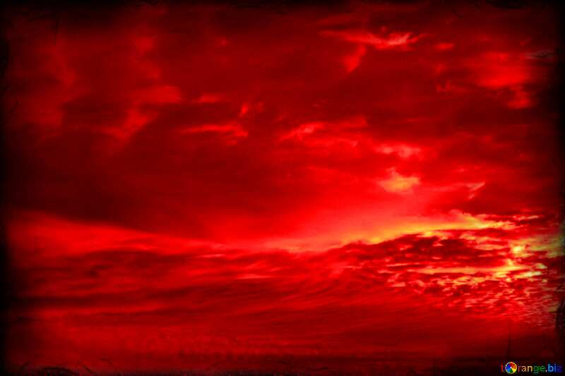 Red sunset The best image. №44627