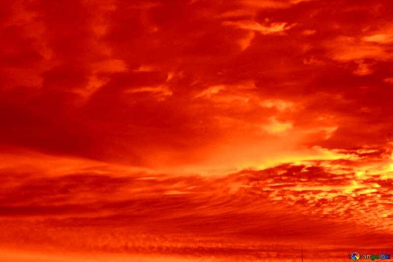 Red sunset sky №44627