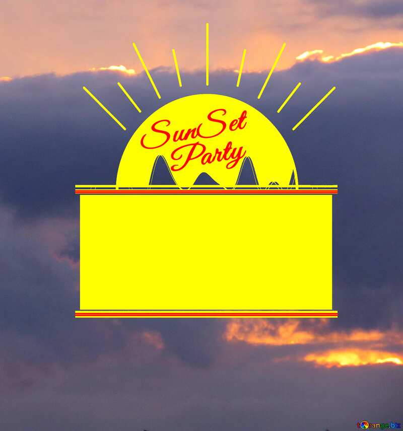 Sunset clouds Sunset Party card №40996