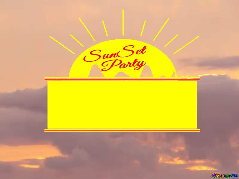 Sunset clouds sky Sunset Party card №40997