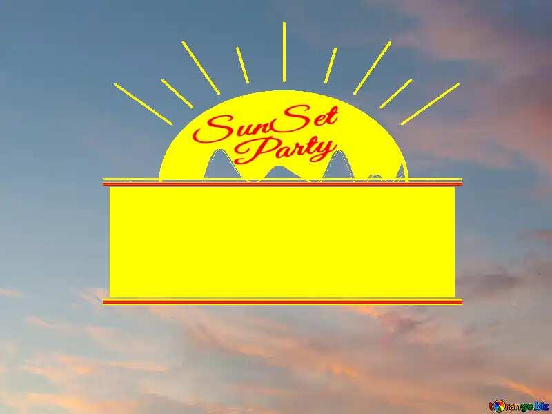 Texture sunset sky Sunset Party card №27299