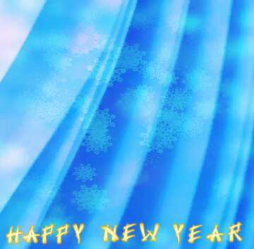 Fragmento. Card with text Happy New Year.