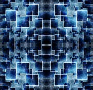 Die Wirkung von Licht. Bruchstück. Rahmenmusters.