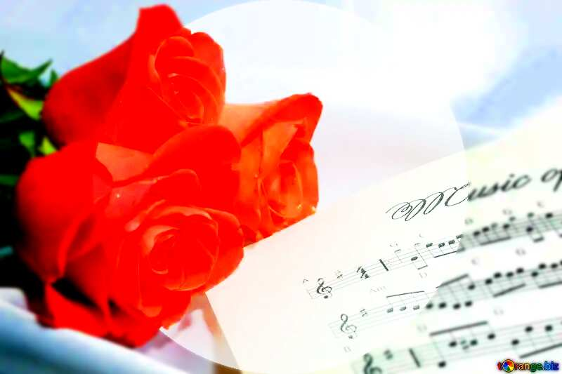 Card greetings music blank template №7255