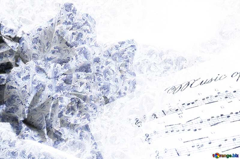 Card greetings music Frozen background №7255