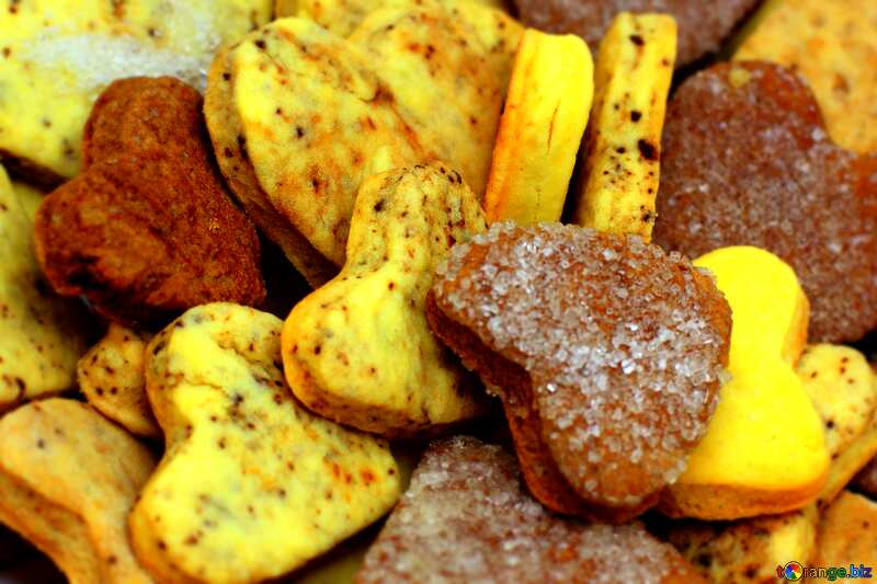 Cookies heart  Colors Blured Bright №16650