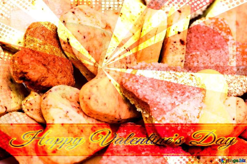 Cookies for Valentine`s Day Retro Background №16650