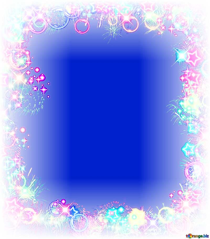 Frame multi-colored  blue background №39964