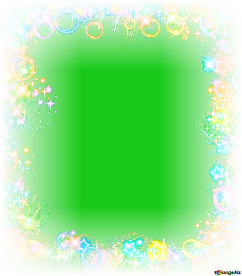 Frame multi-colored green  background №39964