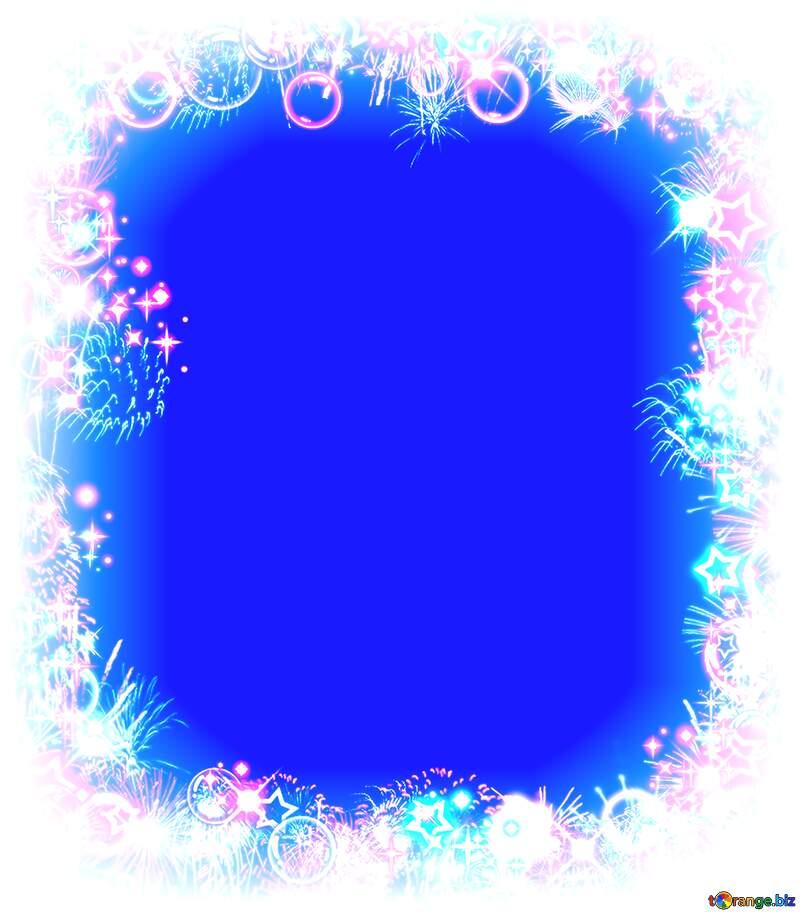 Frame multi-colored light blue  background №39964