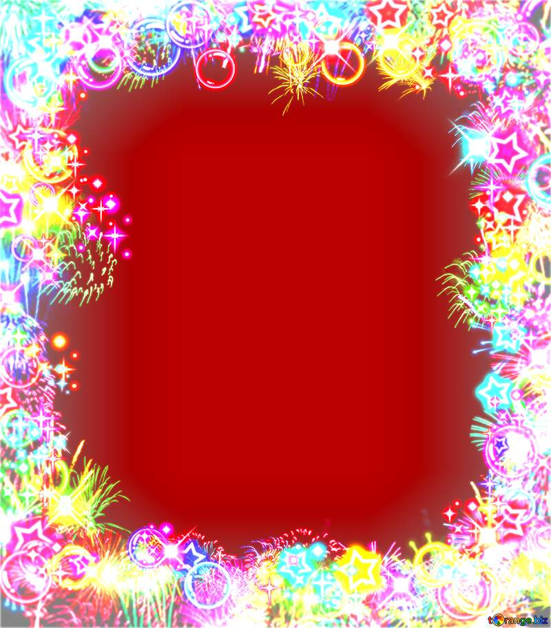 Frame multi-colored red  background №39964