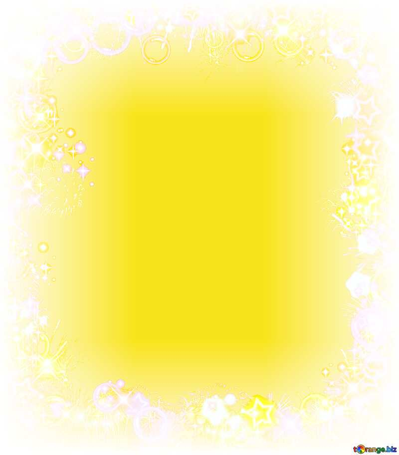 Frame multi-colored yellow  background №39964