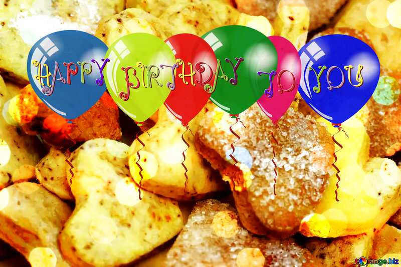 Happy Birthday Card With Cookies №16650