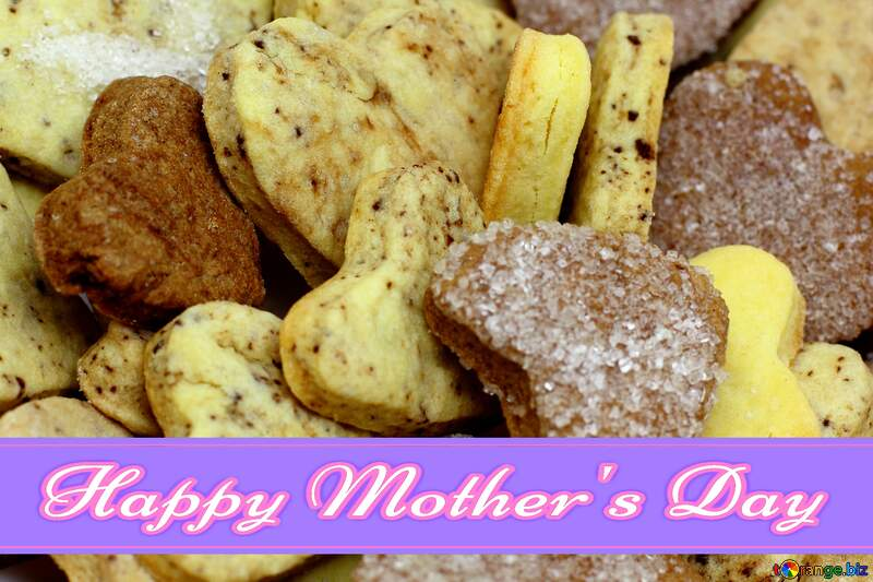 Happy Mothers Day Card Hearts Cookies №16650