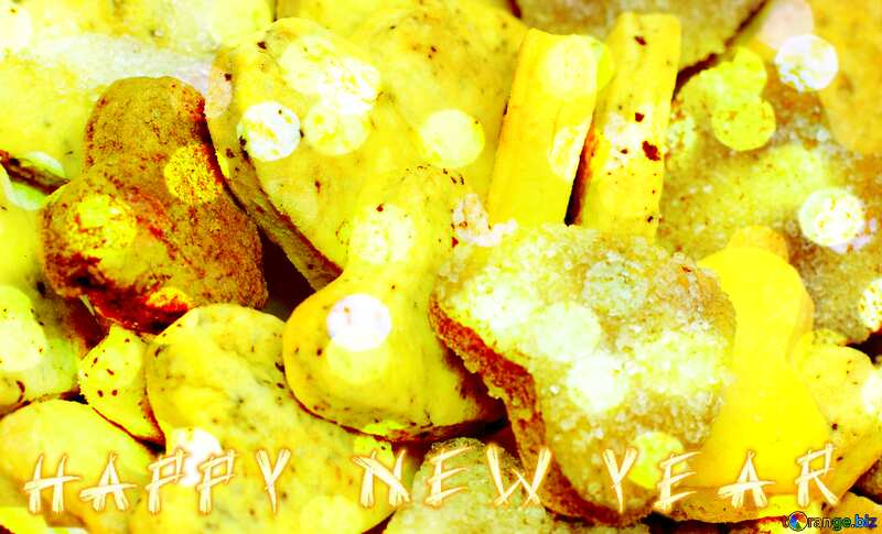 Happy New Year Background With Cookies №16650