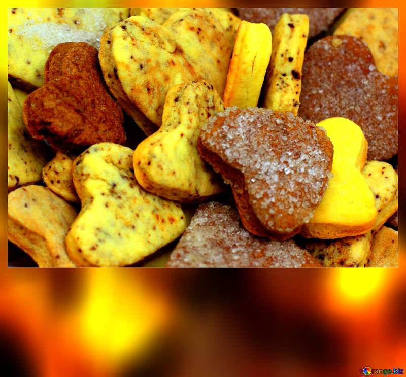 Homemade heart Cookies blank card template №16650