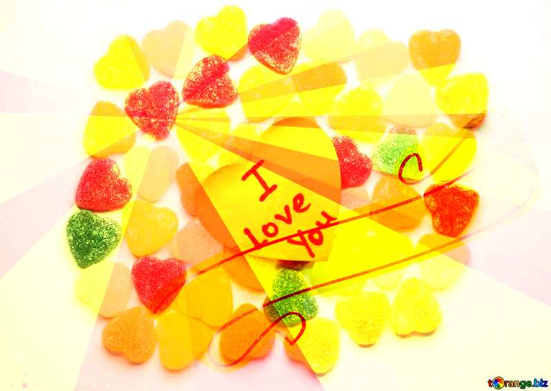 I Love You candy heart  Background №18767