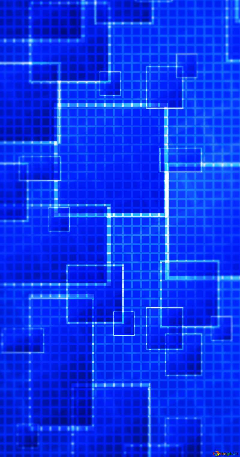 Technology blue background tech abstract squares of the grid cell line ruler texture techno modern computer pattern     №49678